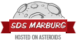 SDS Marburg – hosting on asteroids.
