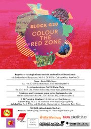 BLOCK G20 – COLOR THE RED ZONE (noG20-Bündnis Marburg)